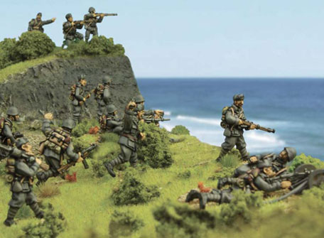 Italian troops defend the coast