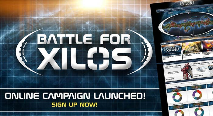 Battle for Xilos online campaign